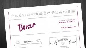 Cabecera de la carta de Barzur