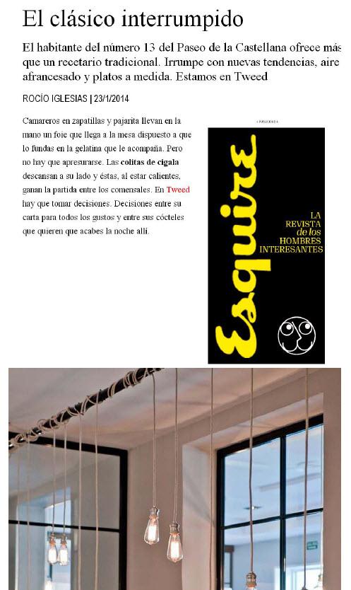 Aparición de Tweed en Esquire - 01